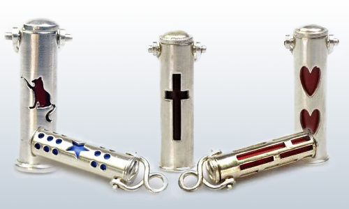 pewter keychain urns